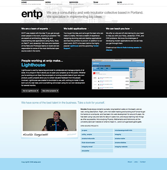ENTP.com Screenshot