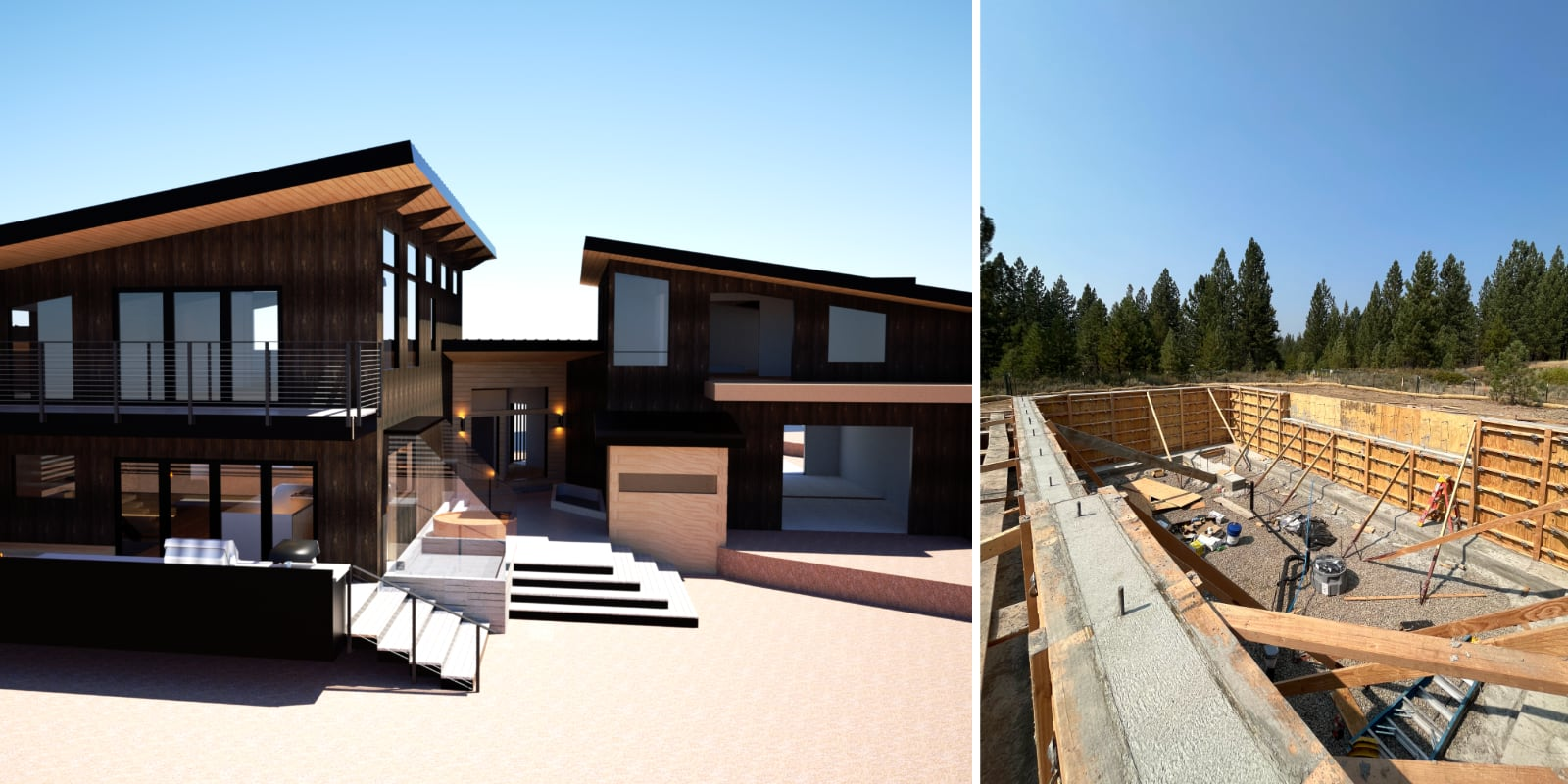 Aster Pines —Render vs Reality